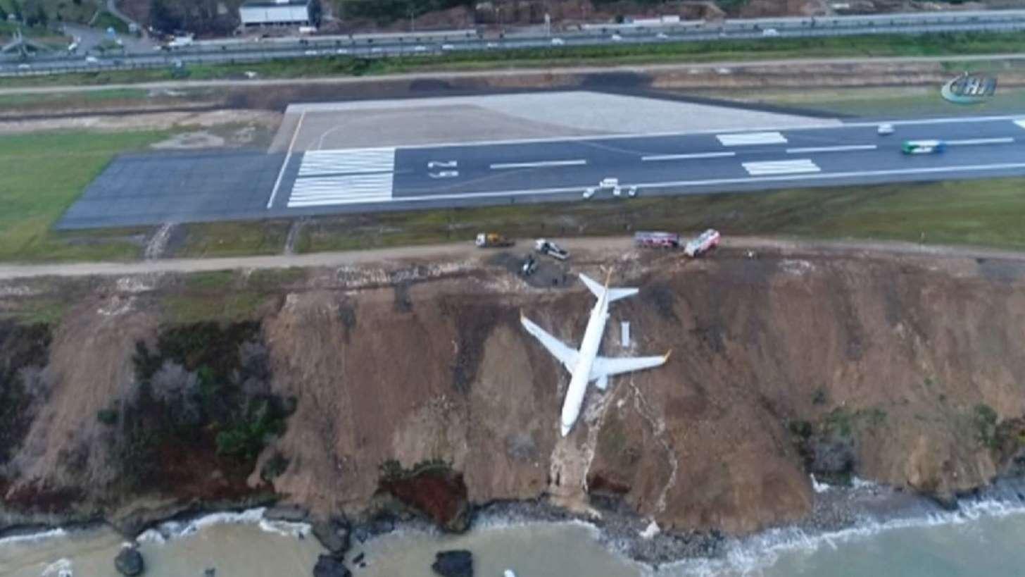 Plane on cliff