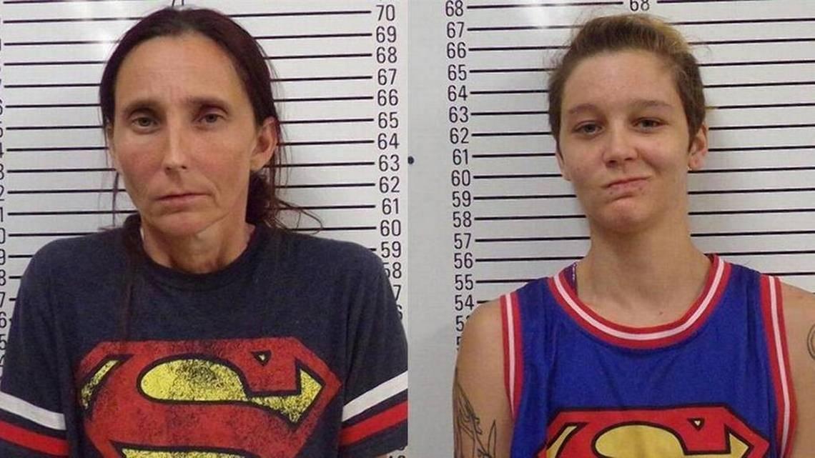 Mother-daughter mug shot