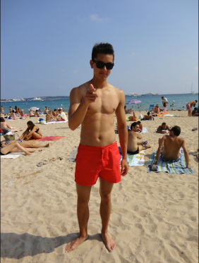 On the beach in Cannes